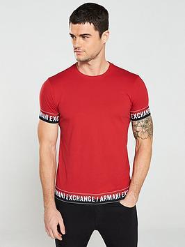 armani-exchange-logo-tape-t-shirt-red