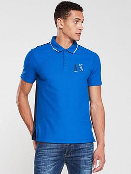 Armani Exchange Armani Exchange Tipped Panel Polo Shirt - Blue Picture