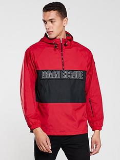 armani-exchange-logo-front-pocket-over-head-jacket-red