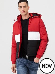 armani-exchange-logo-ribbon-padded-jacket-redwhiteblack