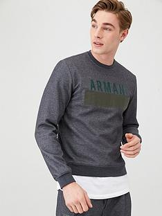 armani-exchange-logo-crew-neck-sweatshirt-grey