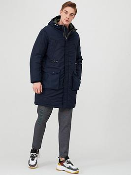 Armani Exchange   Hooded Parka - Navy