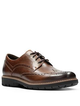 Clarks Clarks Batcombe Wing Shoes - Dark Tan Picture