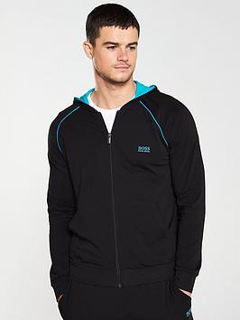 boss-bodywear-lightweight-full-zip-lounge-hoodie-black