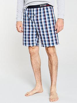 boss-bodywear-woven-check-pyjama-shorts-navy
