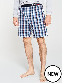 boss-bodywear-woven-check-shorts