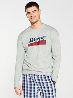 boss-authentic-lounge-sweatshirt-grey-marl