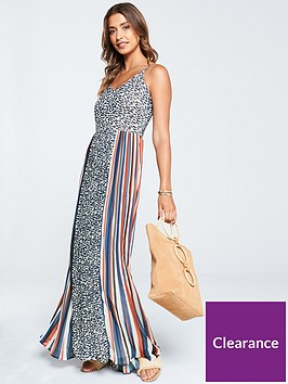 v-by-very-colourblock-pleat-and-animal-print-maxi-dress-print