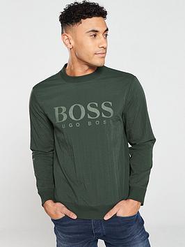 Boss Boss Mesh Overlay Sweatshirt - Green Picture
