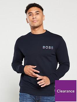boss-wecola-logo-sweatshirt-navy