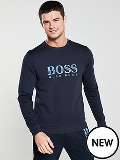 boss-bodywear-logo-sweatshirt-navy