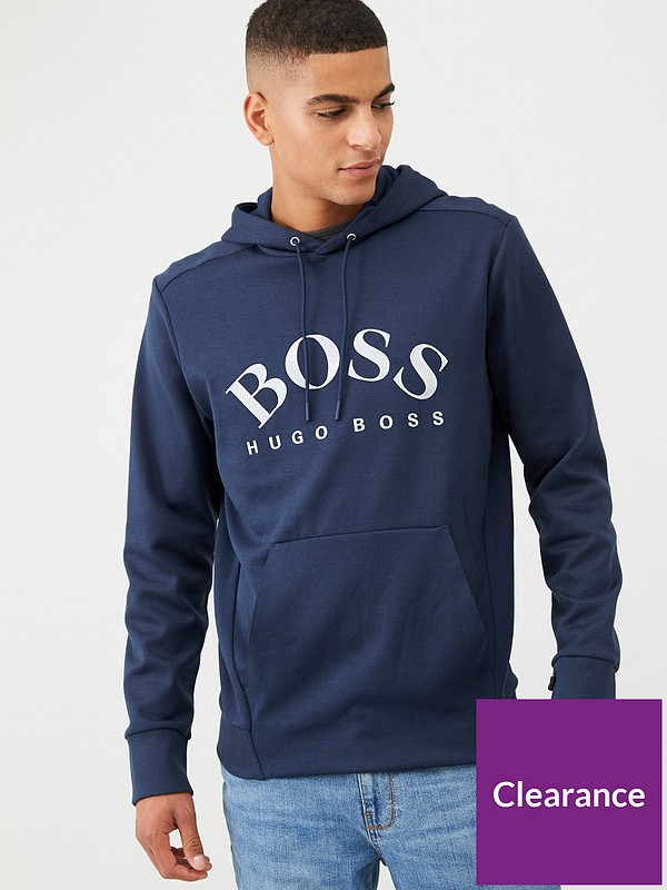 Hugo Boss Mens Blue Soody Sweatshirt