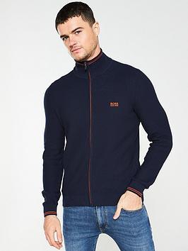 boss-zodney-zip-through-textured-knit-jumper-navy