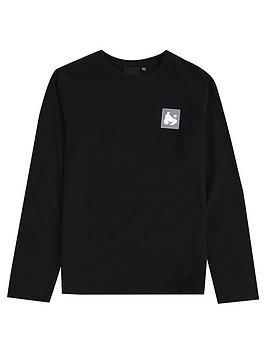 money-boys-long-sleeve-block-ape-t-shirt-black