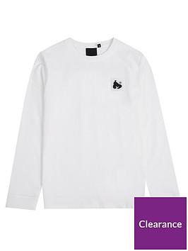 money-boys-long-sleeve-block-ape-t-shirt-white