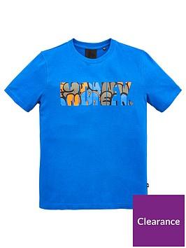 money-boys-block-logo-print-t-shirt-blue