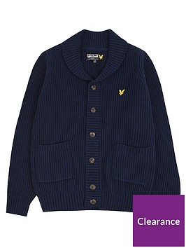 lyle-scott-lyle-scott-boys-shawl-collar-knitted-cardigan