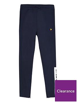 lyle-scott-boys-zip-hem-block-logo-joggers-navy