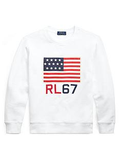 ralph-lauren-boys-flag-crew-sweat-top-white