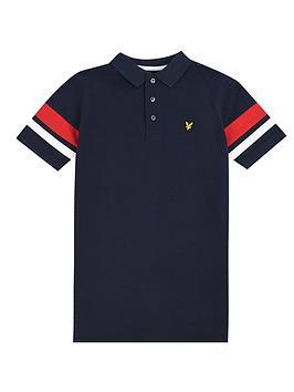 lyle-scott-boys-short-sleeve-contrast-band-polo-shirt-navy