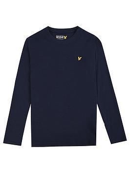 Lyle & Scott Lyle & Scott Boys Classic Long Sleeve T-Shirt - Navy Picture