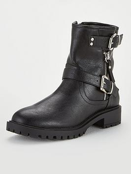 V by Very V By Very Maddy Biker Boots - Black Picture