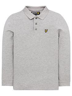 lyle-scott-boys-classic-long-sleeve-polo-shirt-grey