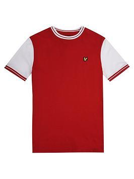 lyle-scott-lyle-scott-boys-short-sleeve-tipped-t-shirt