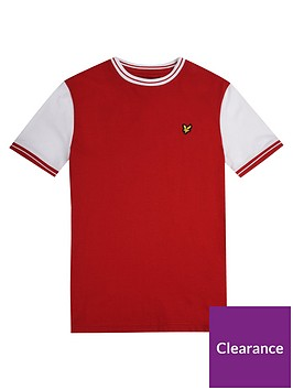 lyle-scott-lyle-scott-boys-short-sleeve-tipped-t-shirt