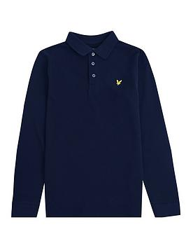 lyle-scott-boys-classic-long-sleeve-polo-shirt-navy