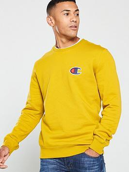 champion-c-logo-crew-neck-sweat-mustard