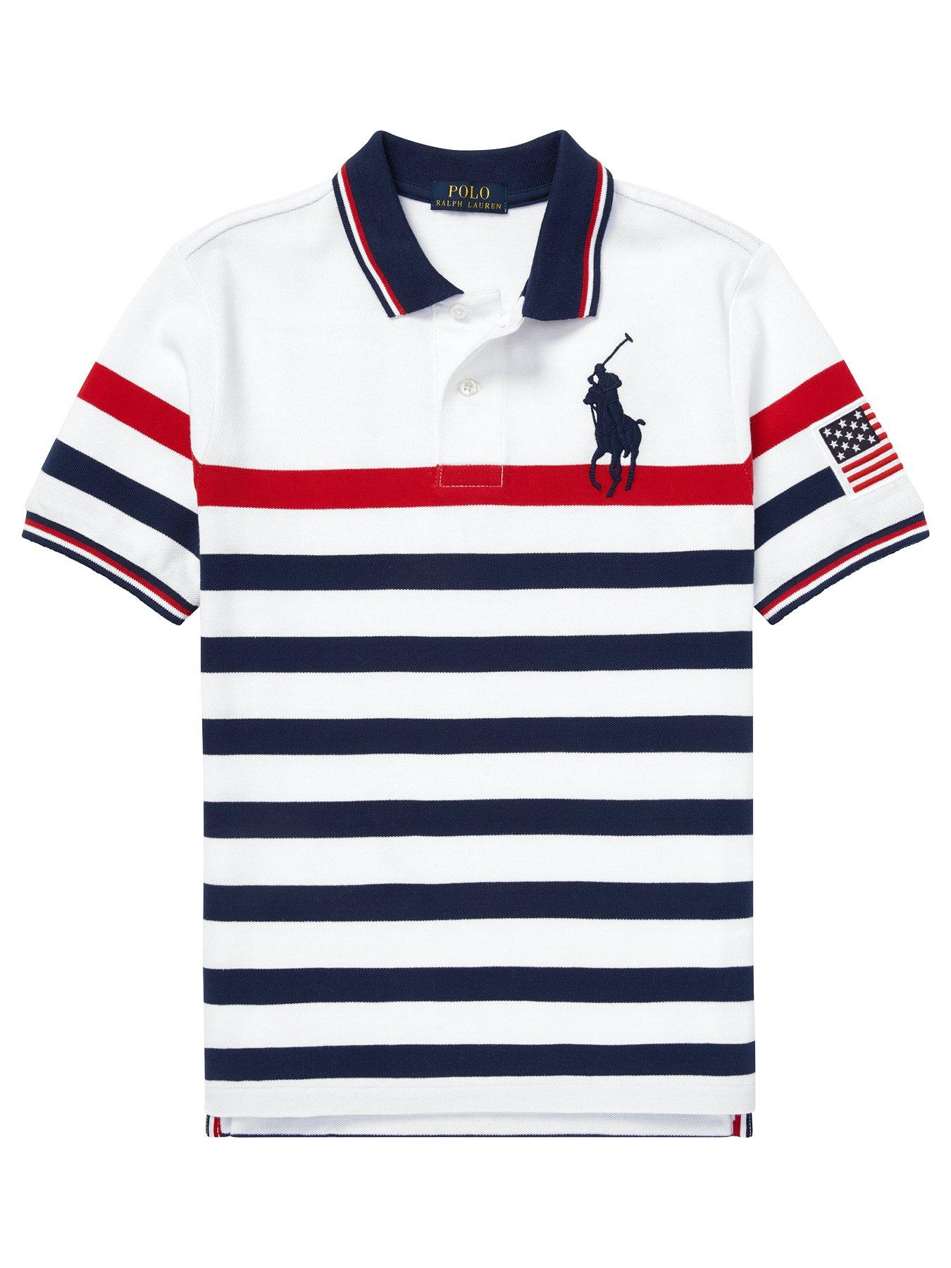 Polo Ralph Lauren Boys Big Pony /& Number on Sleeves 100/% Cotton 2-20years 14-16 Beige Heather, L