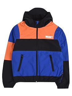 money-boys-colour-block-fleece-lined-windbreaker-multi