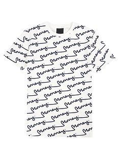 money-boys-short-sleeve-all-over-signature-t-shirt-off-white