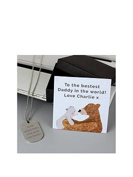 personalised-stainless-steel-dog-tag-with-daddy-bear-sentiment-card