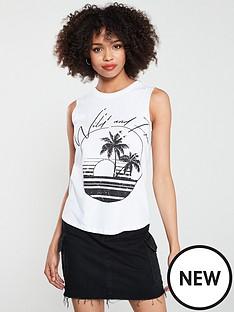 d5ca427ef8d57 River Island River Island X Caroline Flack Print Vest - White