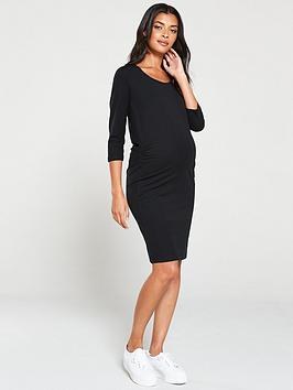 Mama-licious Mama-Licious Maternity Organic Three Quarter Sleeve Dress -  ... Picture
