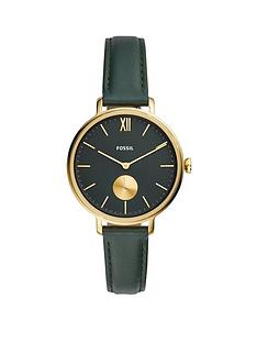 fossil-fossil-kayla-green-sunray-and-gold-detail-dial-green-leather-strap-ladies-watch