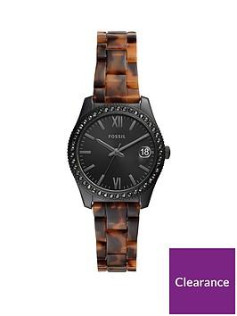 fossil-fossil-scarlette-black-32mm-dial-tortoise-shell-acetate-bracelet-ladies-watch