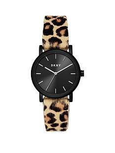 dkny-dkny-soho-black-sunray-and-silver-detail-dial-leopard-print-pony-hair-strap-ladies-watch