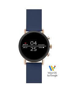 skagen-skagen-falster-2-full-display-rose-gold-dial-blue-silicone-strap-smart-watch