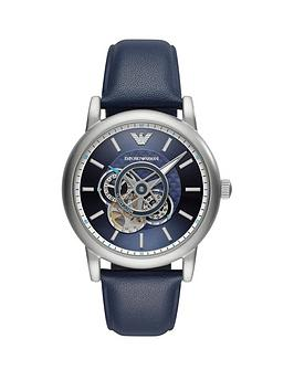 Emporio Armani Emporio Armani Emporio Armani Blue Automatic Skeleton Dial  ... Picture