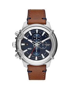 diesel-diesel-country-blue-and-silver-detail-chronograph-dial-brown-leather-strap-mens-watch