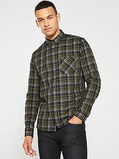 hugo-ermann-check-longsleeve-shirt-blackgrey