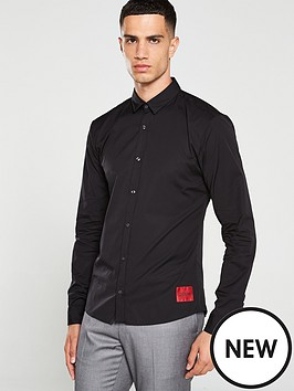 hugo-ero3-long-sleeved-shirt-black