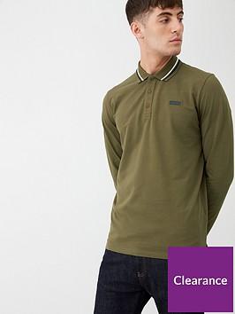 hugo-donol194-longsleeve-polo-shirt-khaki