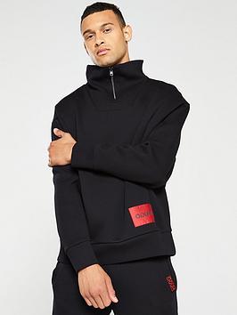 HUGO Hugo Daipeh Zipped Turtleneck Sweatshirt - Black Picture