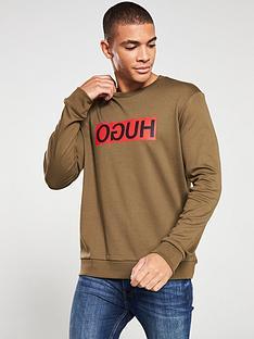 hugo-dicago194-reverse-logo-sweatshirt-khaki