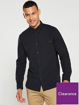 hugo-ermann-straight-fit-long-sleeved-shirt-black