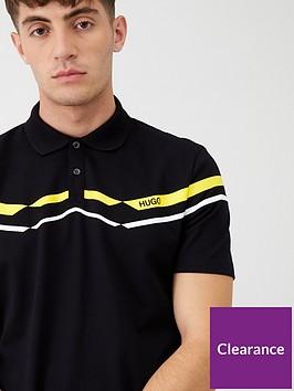 hugo-dapporo-chevron-polo-shirt-black